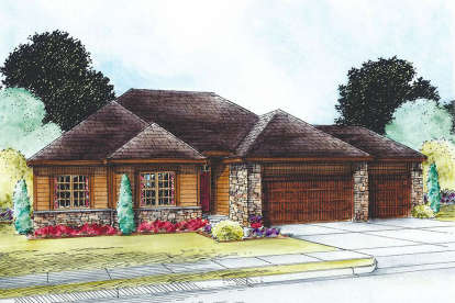2 Bed, 3 Bath, 1750 Square Foot House Plan - #402-01558