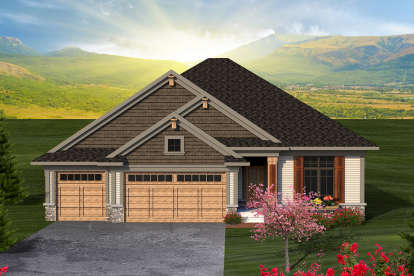 2 Bed, 2 Bath, 1469 Square Foot House Plan - #1020-00164