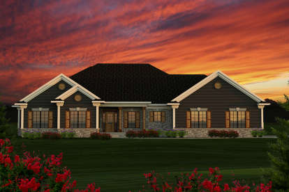 3 Bed, 2 Bath, 1807 Square Foot House Plan #1020-00167