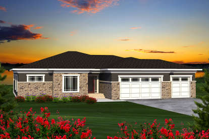 4 Bed, 2 Bath, 2228 Square Foot House Plan - #1020-00173