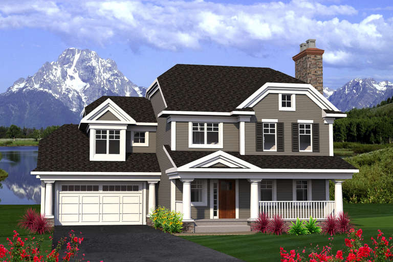 Northwest House Plan #1020-00175 Elevation Photo