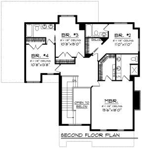 Second Floor for House Plan #1020-00175