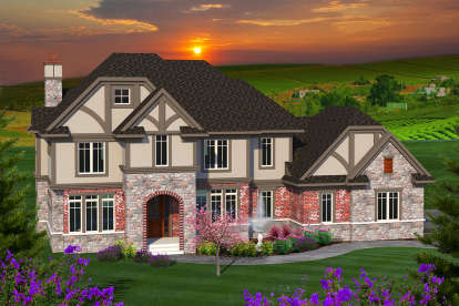 4 Bed, 4 Bath, 4928 Square Foot House Plan - #1020-00181