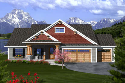 2 Bed, 2 Bath, 1683 Square Foot House Plan - #1020-00185