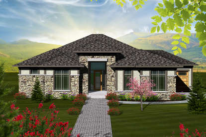 2 Bed, 2 Bath, 2081 Square Foot House Plan #1020-00190