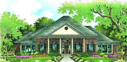 4 Bed, 4 Bath, 3372 Square Foot House Plan - #048-00199