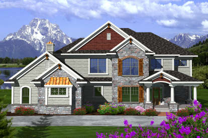 3 Bed, 4 Bath, 3053 Square Foot House Plan - #1020-00198