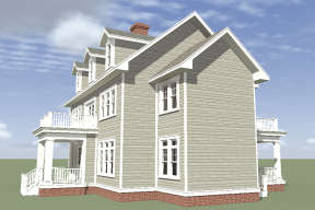 Colonial House Plan #028-00041 Elevation Photo