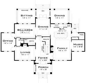 Main Floor for House Plan #028-00041