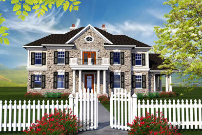 4 Bed, 2 Bath, 3622 Square Foot House Plan - #1020-00217