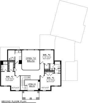 Second Floor for House Plan #1020-00217