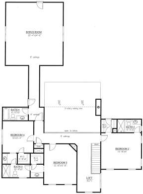 Second Floor for House Plan #286-00083