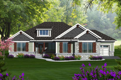 3 Bed, 3 Bath, 4077 Square Foot House Plan - #1020-00222
