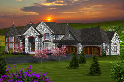4 Bed, 4 Bath, 4540 Square Foot House Plan - #1020-00223