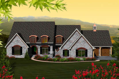 4 Bed, 3 Bath, 4565 Square Foot House Plan - #1020-00224