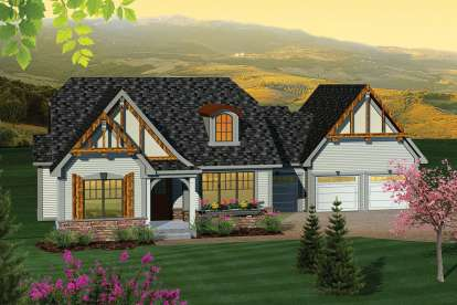 2 Bed, 2 Bath, 1583 Square Foot House Plan - #1020-00226