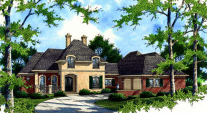 4 Bed, 3 Bath, 3802 Square Foot House Plan - #048-00203