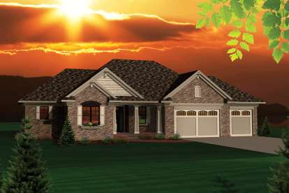 2 Bed, 2 Bath, 1645 Square Foot House Plan - #1020-00230