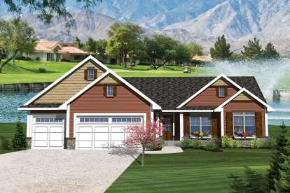 3 Bed, 2 Bath, 1664 Square Foot House Plan - #1020-00231