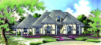 4 Bed, 4 Bath, 3960 Square Foot House Plan - #048-00205