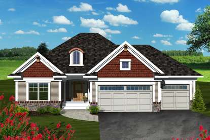 2 Bed, 2 Bath, 1569 Square Foot House Plan - #1020-00256