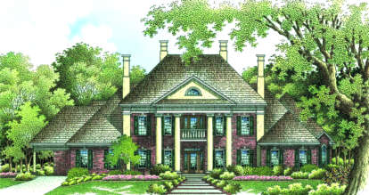 4 Bed, 4 Bath, 4242 Square Foot House Plan - #048-00206