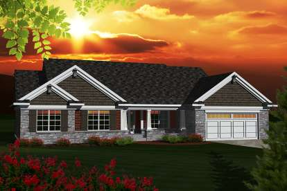 3 Bed, 2 Bath, 1928 Square Foot House Plan #1020-00261