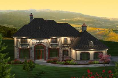 5 Bed, 4 Bath, 3843 Square Foot House Plan - #1020-00268