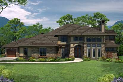 4 Bed, 4 Bath, 4459 Square Foot House Plan - #1020-00271