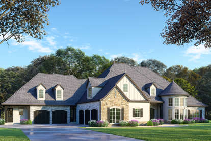 6 Bed, 6 Bath, 5106 Square Foot House Plan - #8318-00088