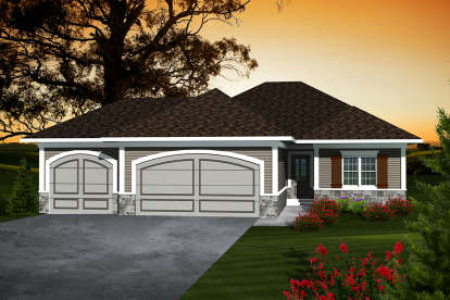 2 Bed, 2 Bath, 1367 Square Foot House Plan - #1020-00279