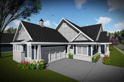 2 Bed, 2 Bath, 1902 Square Foot House Plan - #1020-00289