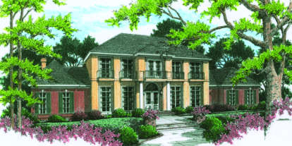 4 Bed, 4 Bath, 5560 Square Foot House Plan - #048-00210