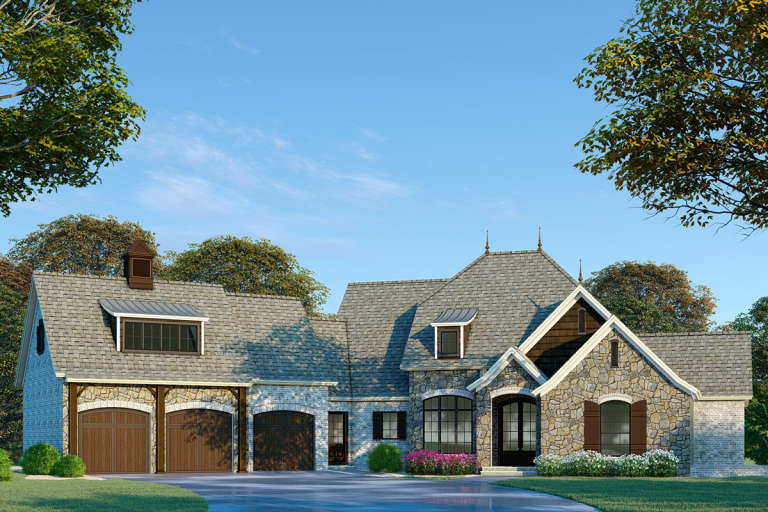 French Country House Plan #8318-00093 Elevation Photo