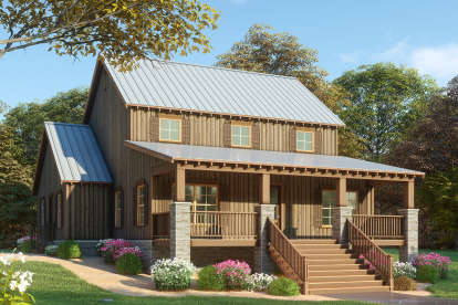3 Bed, 2 Bath, 2144 Square Foot House Plan - #8318-00095