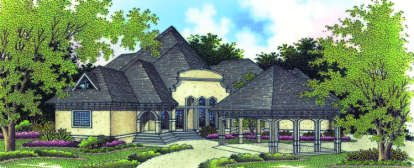 5 Bed, 6 Bath, 6000 Square Foot House Plan - #048-00211