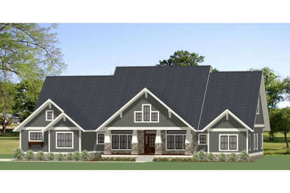 4 Bed, 2 Bath, 3401 Square Foot House Plan #6849-00050