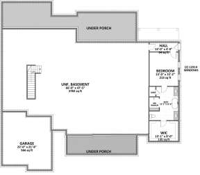 Basement Floorplan for House Plan #6849-00050