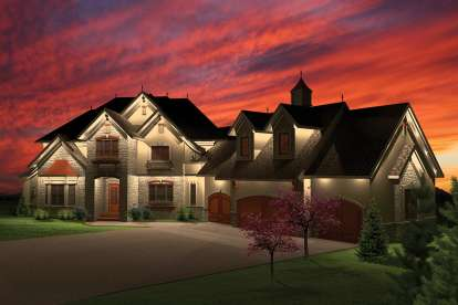 4 Bed, 3 Bath, 4029 Square Foot House Plan - #1020-00320