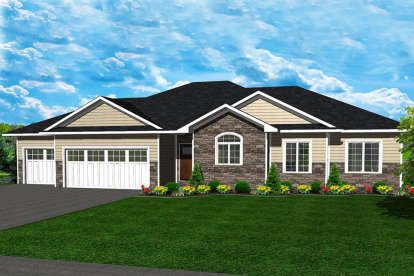 3 Bed, 2 Bath, 1640 Square Foot House Plan - #5678-00008