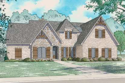 3 Bed, 0 Bath, 2399 Square Foot House Plan - #8318-00098