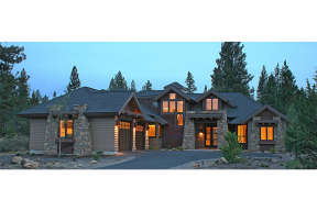 Mountain Rustic  House Plan #5829-00012 Elevation Photo