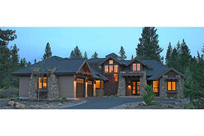 4 Bed, 3 Bath, 3513 Square Foot House Plan - #5829-00012