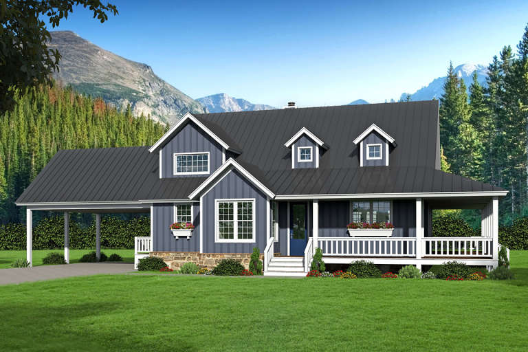 Country House Plan #940-00115 Elevation Photo