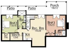 Basement for House Plan #8504-00154