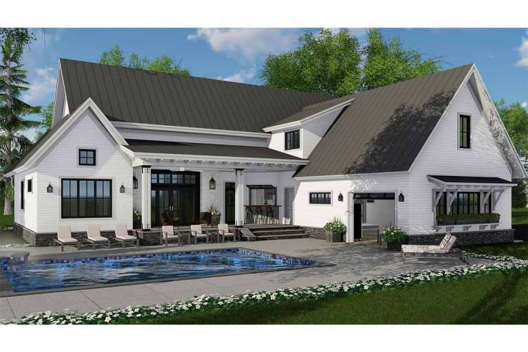 Modern Farmhouse House Plan #098-00304 Elevation Photo