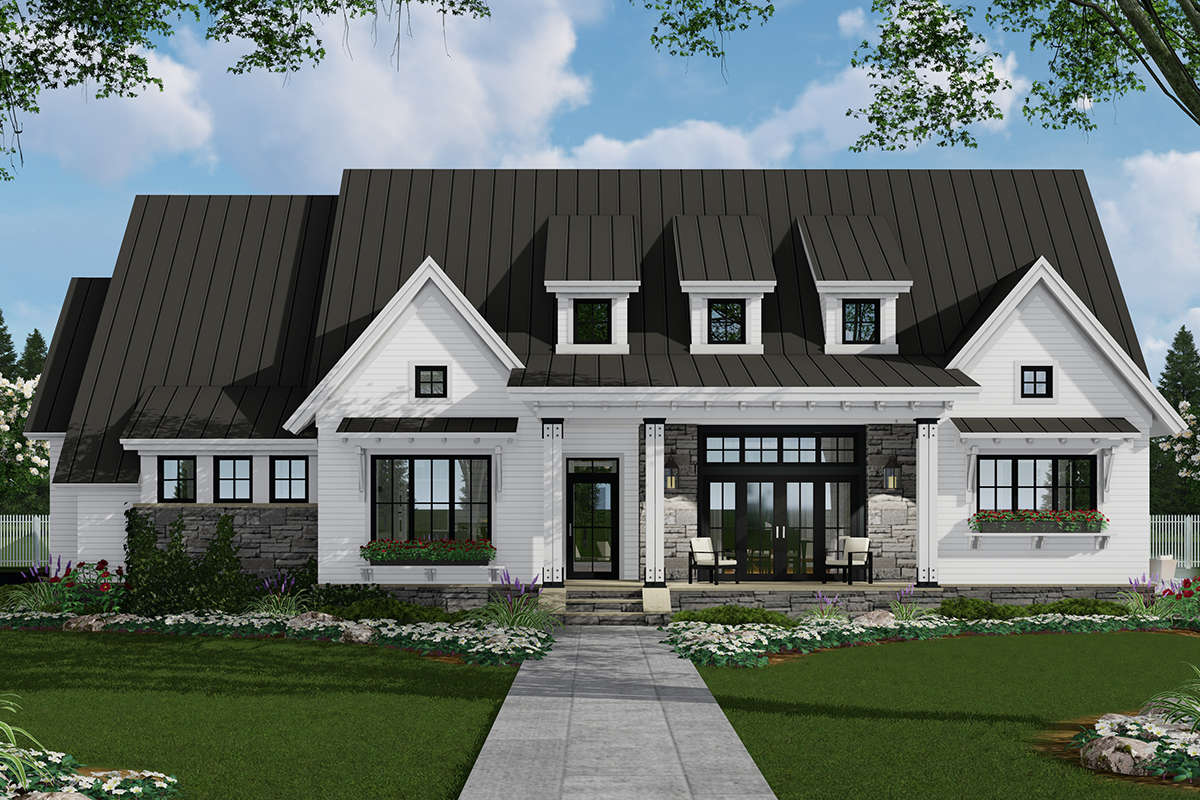 Modern Farmhouse Plan: 2,287 Square Feet, 3 Bedrooms, 2.5 ...