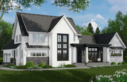 4 Bed, 3 Bath, 3011 Square Foot House Plan #098-00307