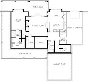Unfinished Basement Layout for House Plan #699-00109