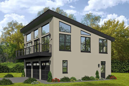 1 Bed, 1 Bath, 1190 Square Foot House Plan - #940-00116